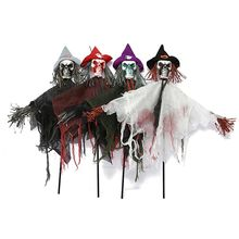 Halloween Party Decoration Horror Ghost Kids Trick Hanging Scarecrow Decoration Skeleton Witch Props Decoration Hanging Ghost hot sale giant horror bending inflatable halloween skull hanging head skeleton for party decoration page 8 page 3