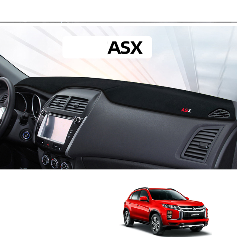 lsrtw2017 polyster dashboard mat for mitsubishi asx 2010 2011 2012 2013 2014 2015 2016 2017 <font><b>2018</b></font> 2019 accessories pad interior image