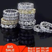 2020 Вечность Обручальное кольцо 925 стерлингового серебра бриллиант обручальное кольцо кольца для мужчин и женщин палец вечерние ювелирные и...