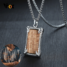 Vnox Monster Claw Rosewood Pendants for Men Stainless Steel Punk Necklace Top Male Jewelry vnox rock punk necklace men jewelry 100% tungsten carbide necklaces