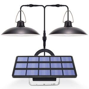 Image 1 - ضوء الشمس مع لوحة طاقة شمسية معلقة لمصباح إضاءة خارجية للطاقة الشمسية في الأماكن المغلقة مع 9.8FT الحبل ضوء الشمس قلادة سقف الشرفة