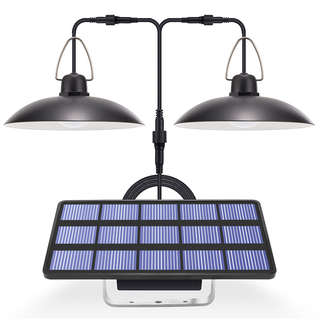 ضوء الشمس مع لوحة طاقة شمسية معلقة لمصباح إضاءة خارجية للطاقة الشمسية في الأماكن المغلقة مع 9.8FT الحبل ضوء الشمس قلادة سقف الشرفة
