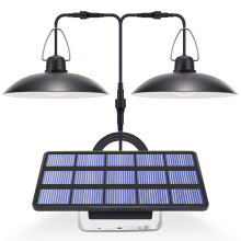 Solar Light LED Garden Chandelider On Solar Batteries Double Head Pendant Light Solar Lamp With Cord For Outdoor Indoor Lighting