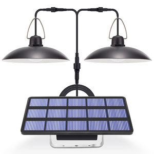 Solar Light LED Garden Chandelider On Solar Batteries Double Head Pendant Light Solar Lamp With Cord For Outdoor Indoor Lighting(China)
