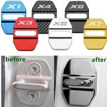 Автомобильный Стайлинг, защитный чехол для автомобильного дверного замка, чехол для BMW X1 X2 X3 X4 X5 X6 X7 F30 E46 E90 E70 E53 G01 G07 M, аксессуары