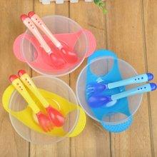 Baby Tableware Feeding-Bowl Spoon-Fork Learning PP 3pcs-Set Temperature-Sensing