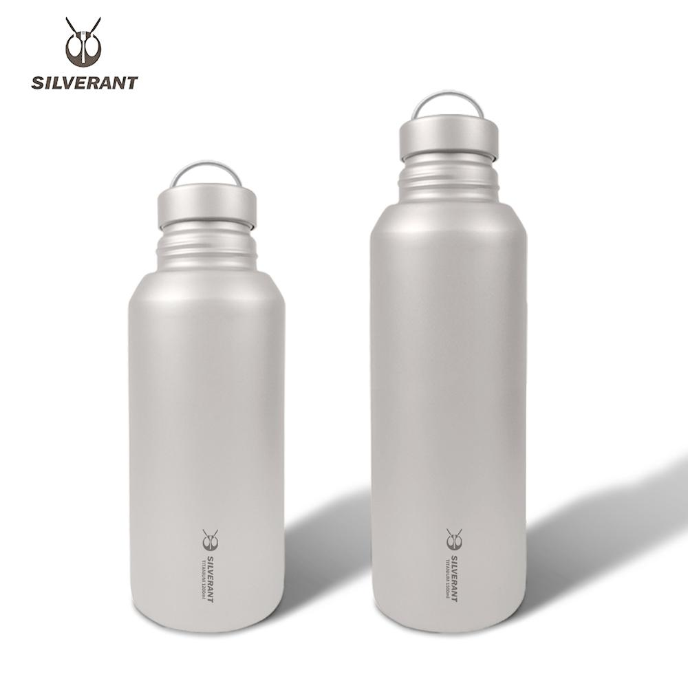Silverant Titanium Large Water Bottle 1.2L/1.5L Ultralight Weight Drinkware With Back Rope Sleeve For Car Travel Hinking Camping