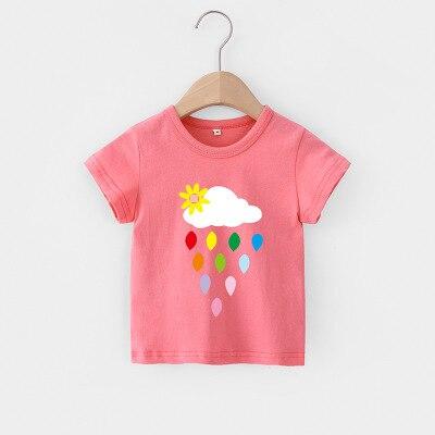 H35a85fc4074f4543b0f25d9785357919s VIDMID Baby girls t-shirt Summer Clothes Casual Cartoon cotton s tees kids Girls Clothing Short Sleeve t-shirt 4018 06