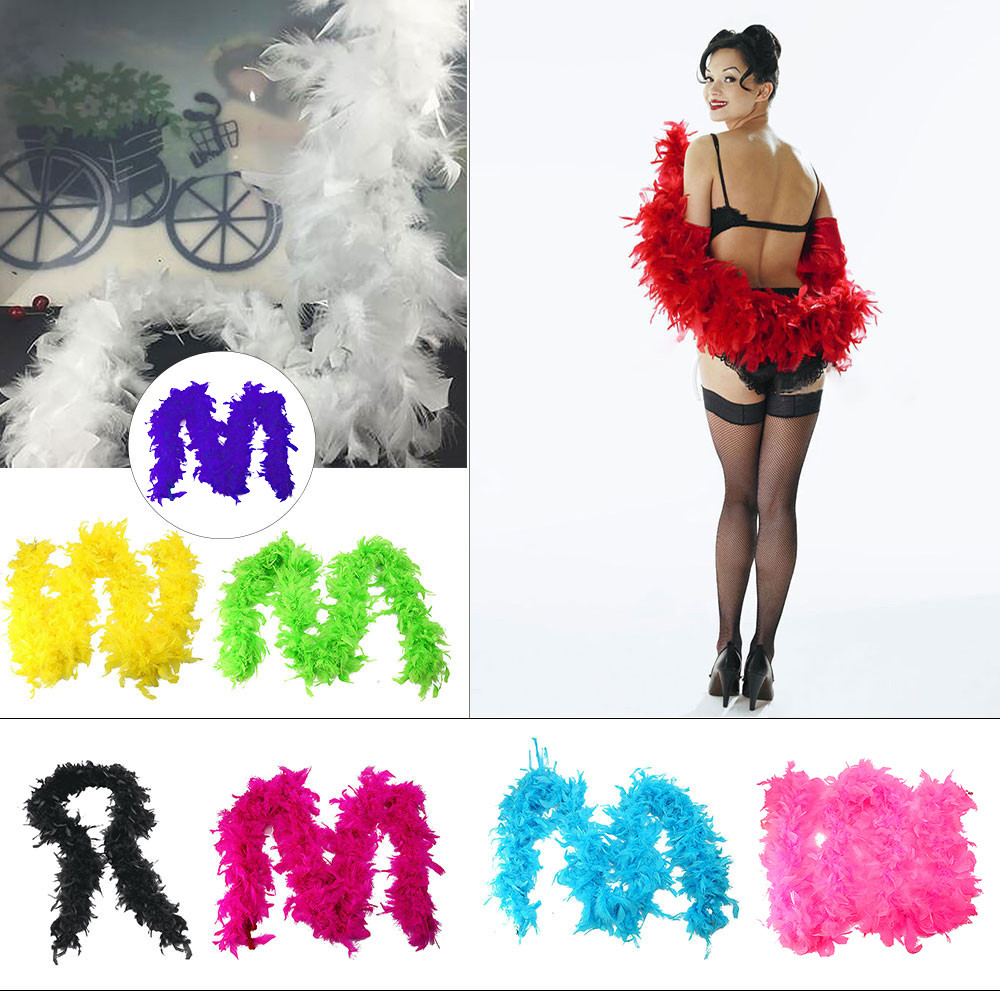 FEATHER BOA FANCY DRESS COSTUME ACCESSORY BURLESQUE//SHOWGIRL//DANCER//HEN PARTY
