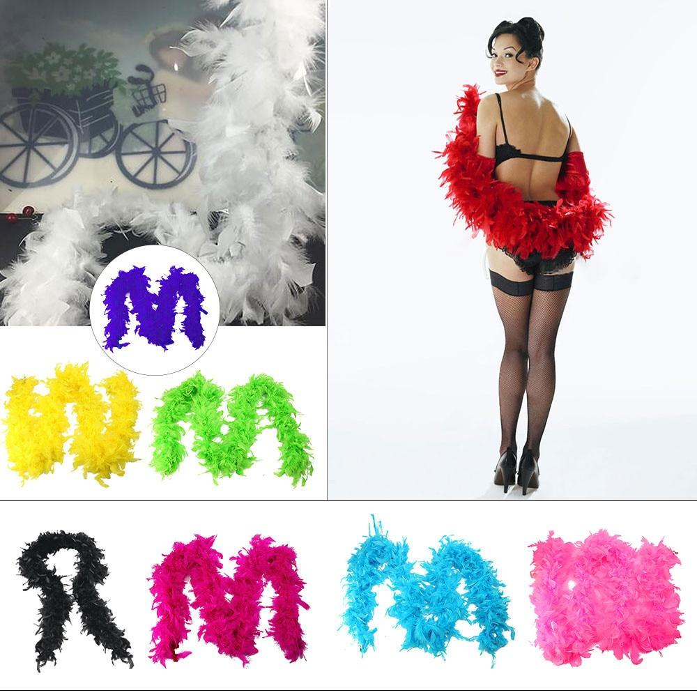 Pretty  Dress Feather Boa Burlesque Showgirl Hen Night Festival Ornamental Scarf