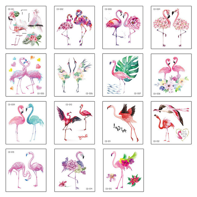 Flamingo Children's Tattoo Sticker Unicorn Sticker Temporary Tattoo Art Waterproof Hand Arm for Child Boy Girl 75*80mm|Temporary Tattoos|   -