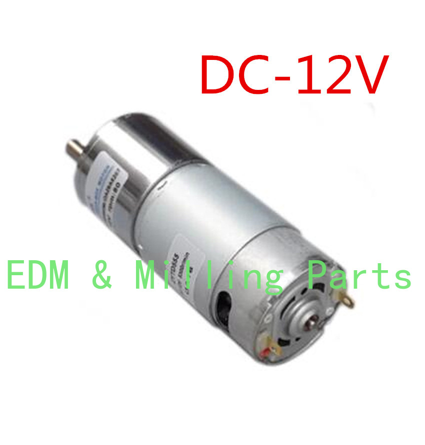Punching Machine Rotate Head DC12V Micro Iow-speed Forward Areverse Motor Adjust Speed 0.3A 80rpm For EDM Drilling Machine