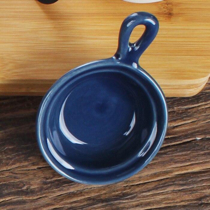 Посуда в японском стиле Цветная глазурь керамическая тарелка многофункциональная кухонная приправа для блюд соус уксус блюдо-3