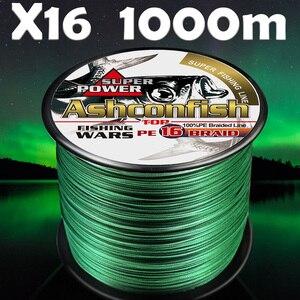 Hilo trenzado hollowcore para pesca, 1000M de agua salada 20-500lb, supermultifilamento japonés, cuerda de pesca de pe de alta resistencia de 0,16mm-2,0mm