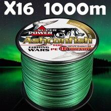 Hollowcore cordon de pêche tressé pe, pêche en eau salée de 1000M, 20 500lb, super japon, forte résistance 0.16mm à 2.0mm
