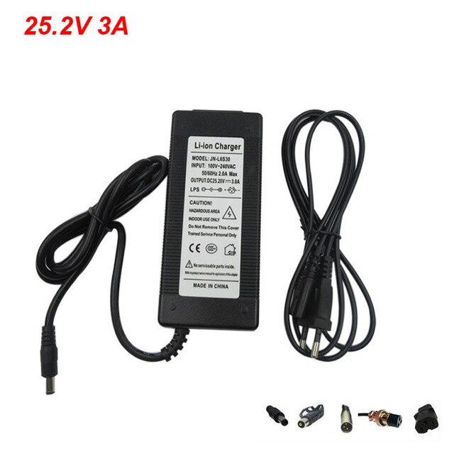 Высококачественное зарядное устройство Li Ion Li Po 25,2 в, 3 А, для литиевых батарей 24 В, 6 с, бесплатная доставка