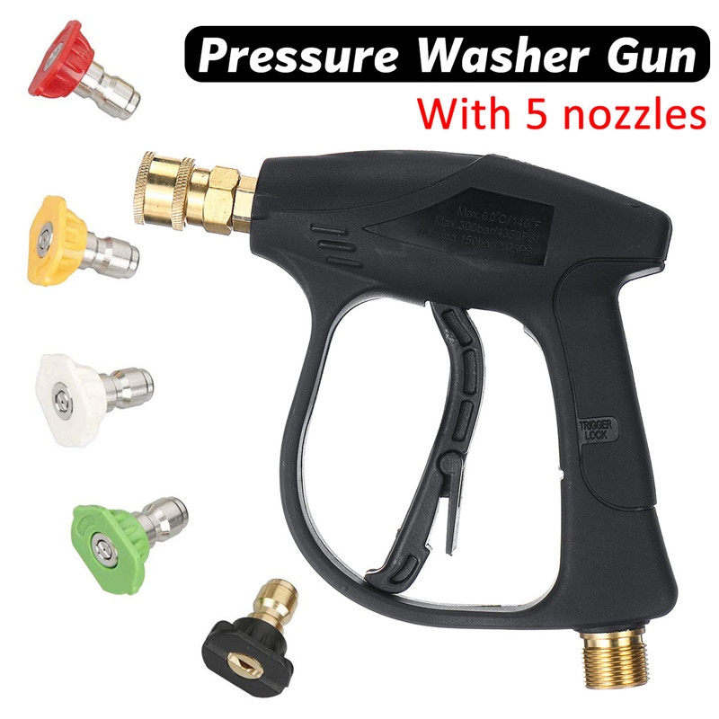 3000PSI High Pressure Water Guns Quick Connection Adapter Car Washing Guns Pressure Water Jet Cleaning Tools Car Washer Guns