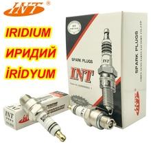 4pcs INT Iridium Spark Plug HIX BR8 BR8HIX FOR BR8HS BR8HS10 BR8HV BR8HVX BR8HSA E8RTC IWF24 W24FS GU W24FS ZU W3AP BR8HS 10