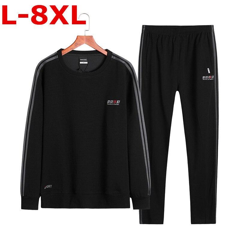 Nieuwe Plus Size 8XL 9XL 10XL Homme Kleding T shirt Mannen T shirt Lange Mouwen Herfst Casual Anker Katoen Printing Tops o hals