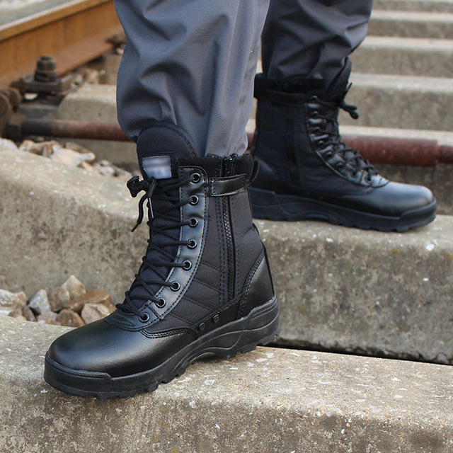 Men Desert Tactical Military Boots Mens Work Safty Shoes Zapatos De Mujer Army Boot Zapatos Ankle Lace-up Combat Boots Size 46 (Copy)