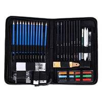Croquis crayon peinture ensemble d'outils Portable professionnel 48 pièces étudiant Graffiti papeterie croquis crayon ensemble artiste Art fournitures