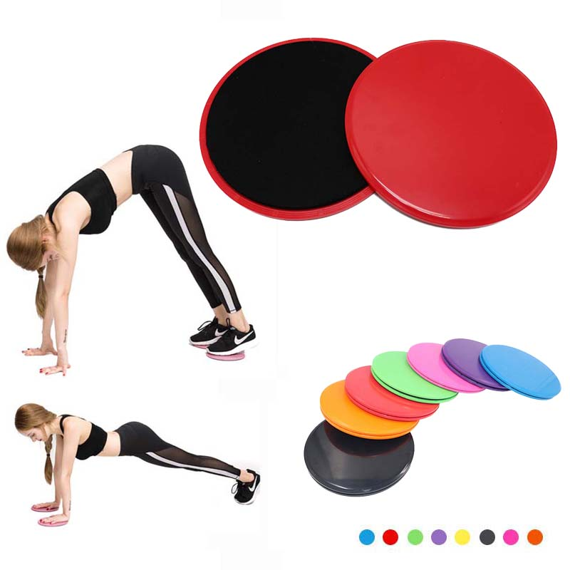 2pcs Fitness Exercise Gliders Core Slide Discs Gym Dual Sliders Workout Training