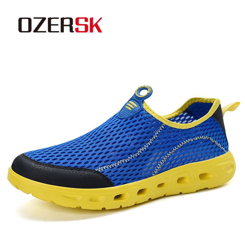 OZERSK 2020 Spring Brand New Hot Sale Men Summer Mesh Shoes High Quality Shoes Men Fashion Walking Breathable Trend Shoes