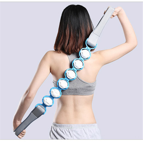 1 pc nova moda multi funcional estimulador pescoco ombro dor massagem multicolorido rolo cintura costas
