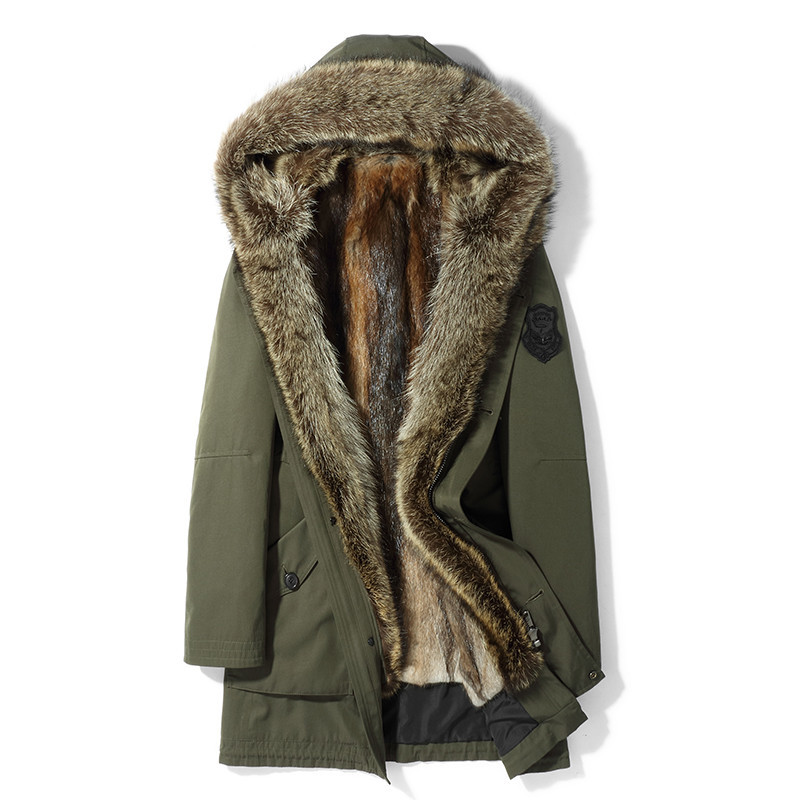Real Fur Coat Natural Mink Fur Liner Parka 2020 Winter Jacket Men Real Raccoon Fur Collar Luxury Warm Jackets MG-1807109 MY1705