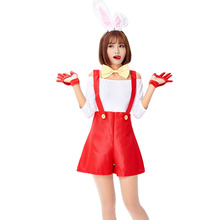Women White Sexy Cute Suit Halloween Lingerie Costume Playboy Playmate Romper Cosplay For