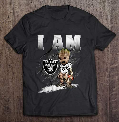 I Am Oakland Streetwear Harajuku 100%Cotton Men'S Tshirt Raiders Groot Tshirts