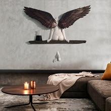 Wall-Decoration Sculpture 3D for Living-Room Bedroom Home-Decor Garden Statue Artwork