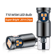 2x Auto Signaal Lamp T10 W5W Led Canbus Lampen 18SMD 2014 Chips W5W 168 194 Auto Interieur Leeslamp Wedge side Lampen 12V