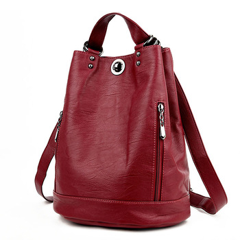 Women Leather Backpack Female Travel Shoulder Bag High Quality Fashion PU Backpacks for School Bags