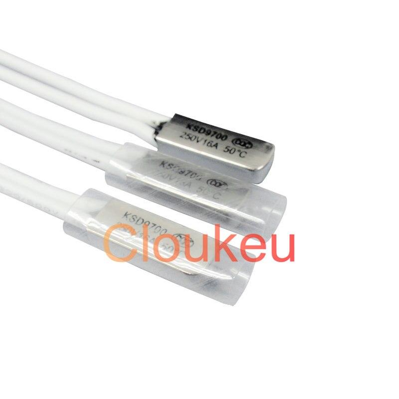 Температурный переключатель протектор металла KSD9700 16A 250V 105/110/115/120/125/130/135/140/145/150c градусов