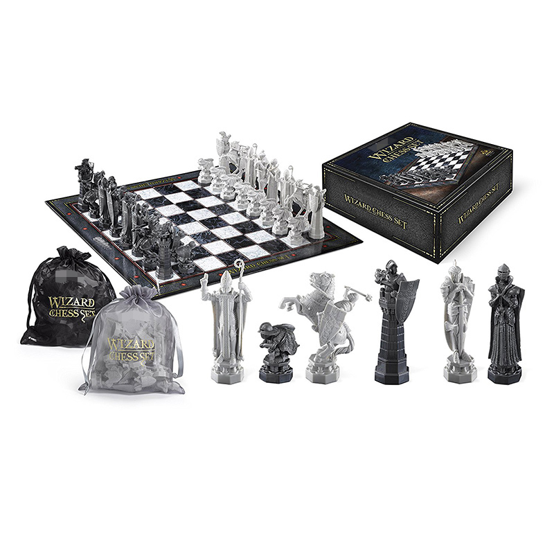 Checkers Harii Potter Wizard Chess Set Board Game Soldier Model Bags Boxed Edition Portable Family Game For Children