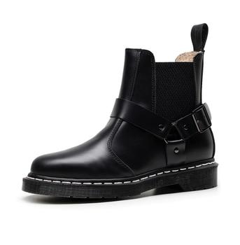 Vastwave Lover łącznik brytyjski Vintage Martens Unisex Doc kobiety skórzane buty Martin buty kobieta botki luksusowe buty zimowe