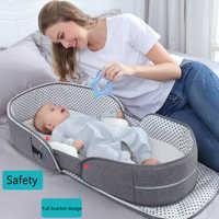 Multifonction Portable bébé lit voyage Protection solaire moustiquaire bébé berceaux pliable respirant Cunas momie sac bébé nid lit