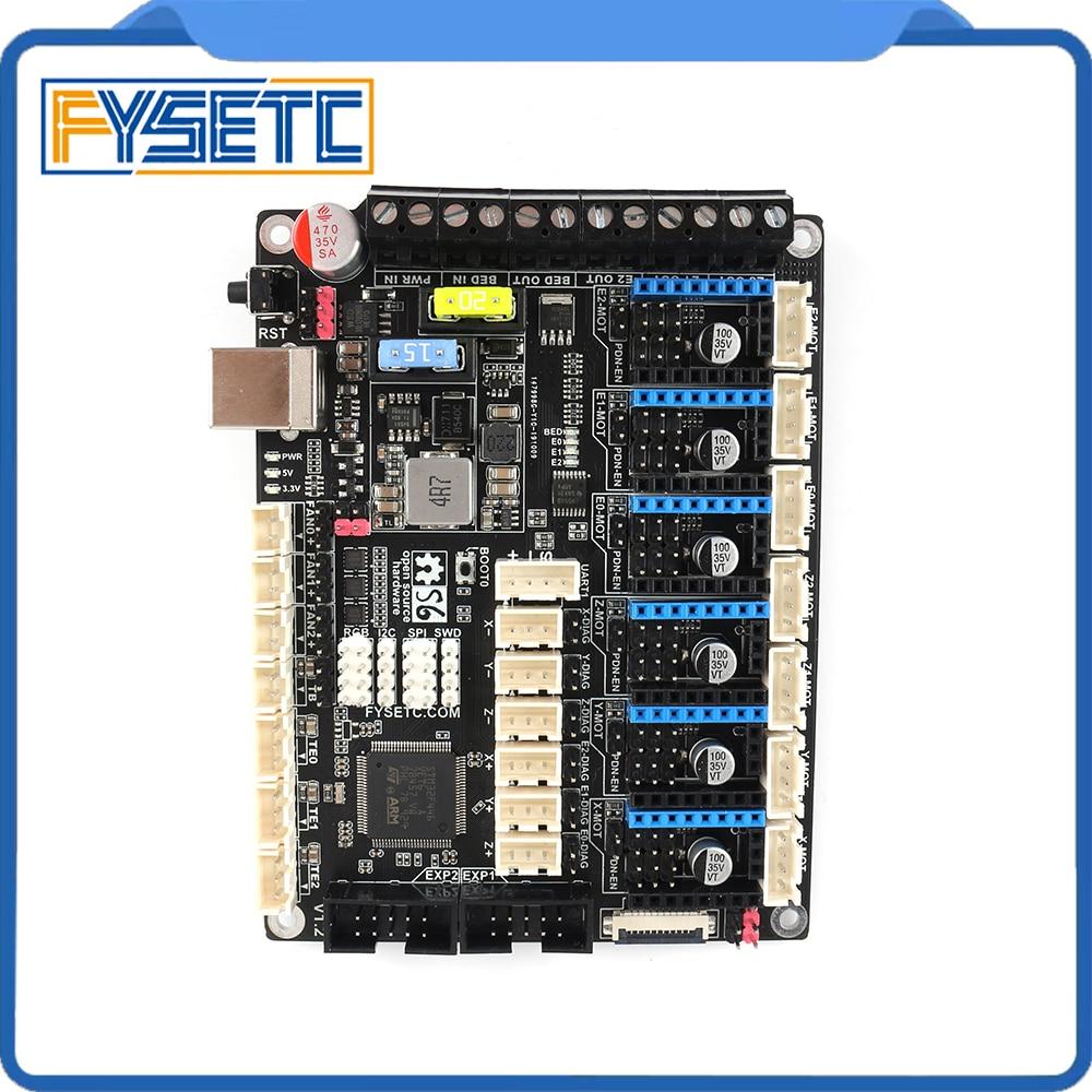 S6 V1.2 32 Bit Board XH Connector Control Board Support 6X TMC Drivers Uart/SPI Flying Wire VS F6 V1.3 SKR V1.3