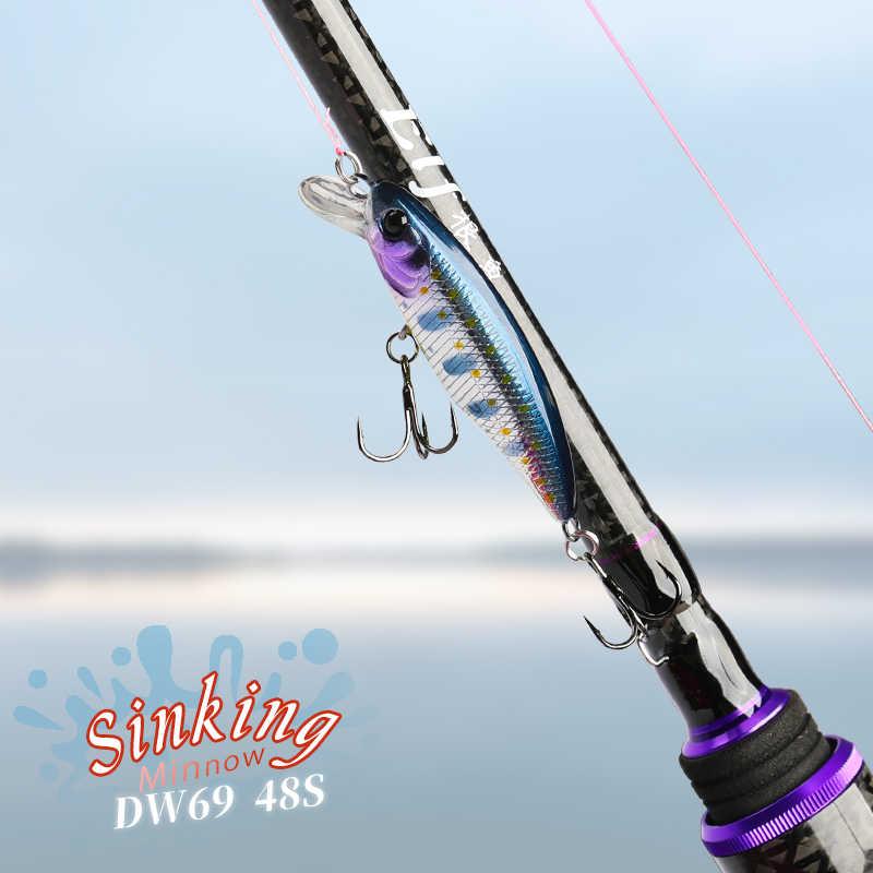Tsurinoya Nieuwe Sinking Minnow Harde Lokken DW69 48S 48 Mm 3.3G Minnow Jerkbait Vissen Wobbler Crankbait Bass Trout lokken Swimbait