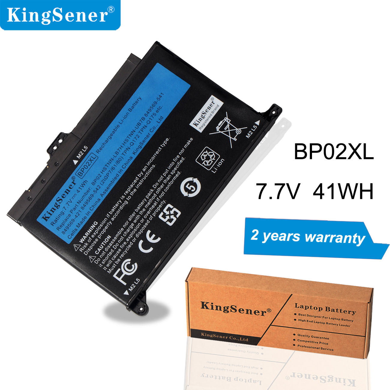 KingSener 7.7V 41WH 5150mAh Laptop BP02XL Battery For HP Pavilion PC 15 15-AU 849909-850 (F9-21) 849569-421 HSTNN-LB7H BP02041XL