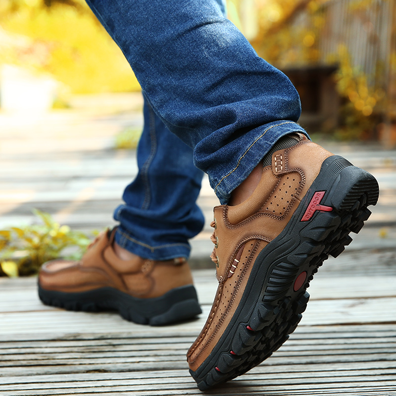 H35aa3e7463054d0bb213652d125a69cec High Quality 2019 New Men Comfortable Sneakers Waterproof Shoes Leather Sneakers Fashion Casual Shoes Male Plus Size 38-48