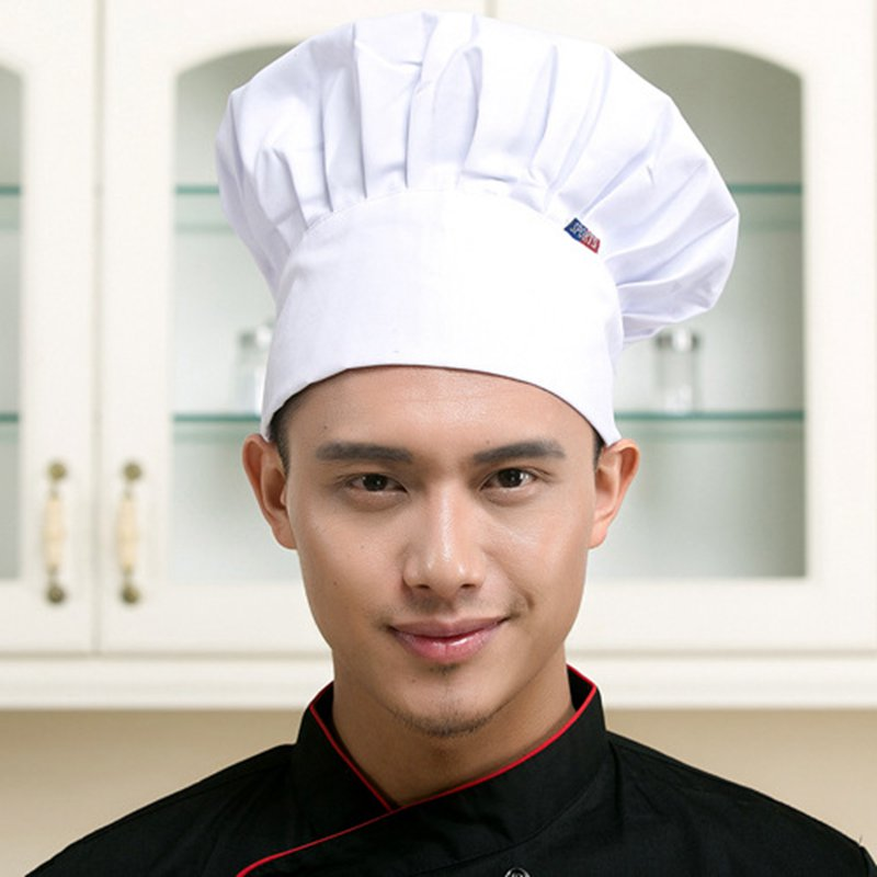 Hats Working-Cap Chef-Hat Catering Adjustable Kitchen Baker Men DAJ9025 1pc Plain Striped