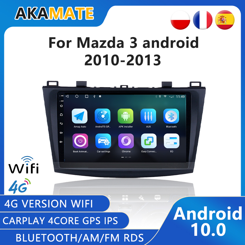 Android 10.0 Car Radio Multimedia video player GPS Carplay Bluetooth IPS RDS FM AM For Mazda3 2010 2011 2012 2013 2din Car Stero