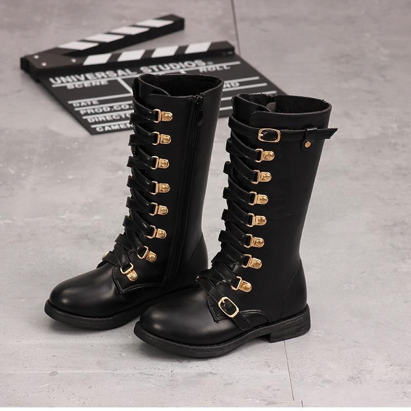 2019 Winter New   Snow Girl Boots Children's Warm  Plus Velvet Princess Boots