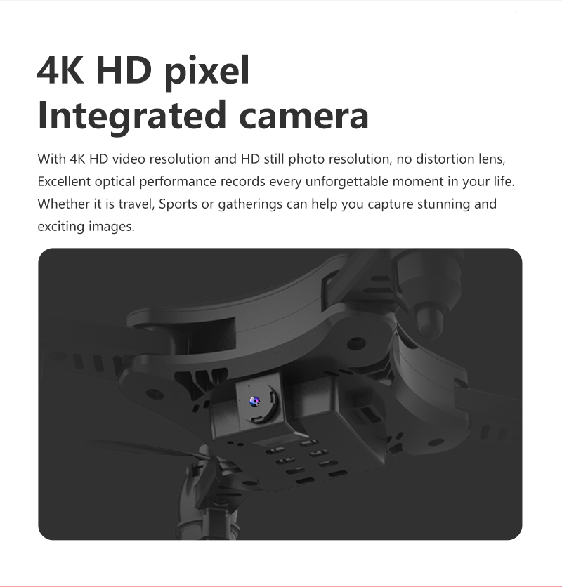 XKJ KY902 Mini Drone Quadcopter con cámara 4K HD 7