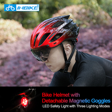 INBIKE Bicycle Helmet LED Light Rechargeable Intergrally-molded Cycling