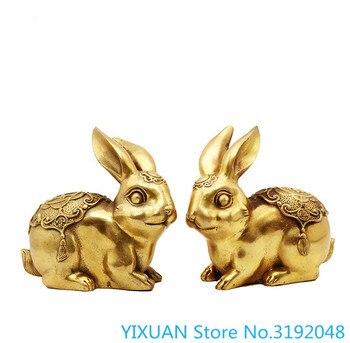 Copper rabbit, fortune brass rabbit, ornament, fortune rabbit, Fuzi rabbit, small rabbit, antique rabbit фото