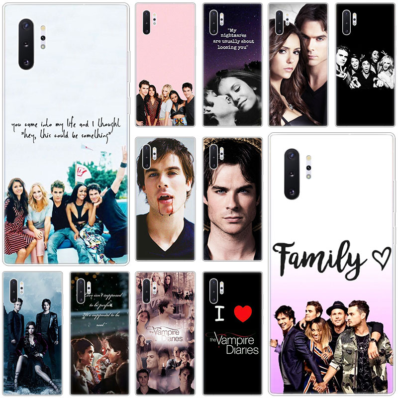 Hot The Vampire Diaries Silicone <font><b>Case</b></font> for <font><b>Samsung</b></font> Galaxy S10E S10 5G S9 S8 S7 Edge Note 10 Plus 9 A9 A8 A7 <font><b>A6</b></font> Plus 2018 A5 <font><b>2017</b></font> image