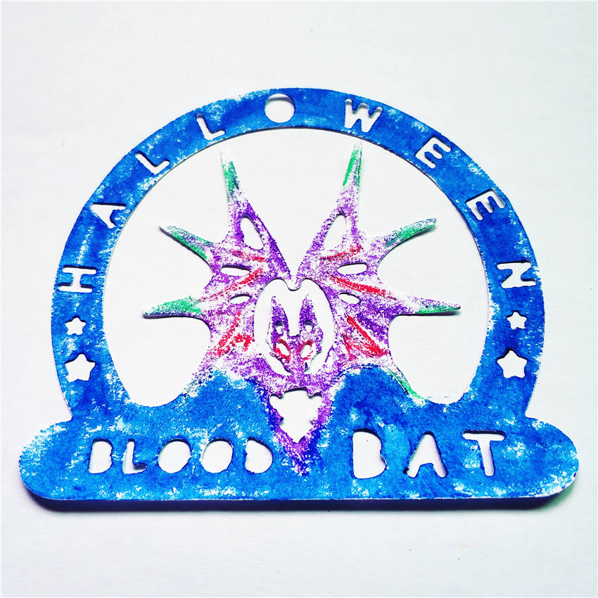 Blood <font><b>Bat</b></font> Carbon Steel <font><b>Knife</b></font> Mould Embossing Mould Cutting <font><b>Knife</b></font> Die DIY Puzzle Halloween Handicrafts image